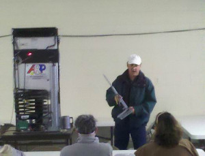 Paul teaching RV refrigerator control at QIA in Quartzsite, AZ.