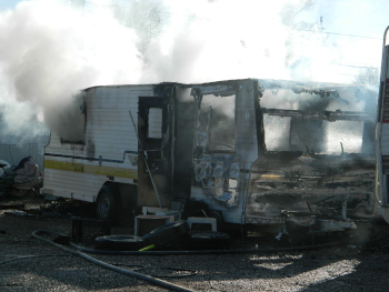 RV Fire 2020 Quartzsite AZ